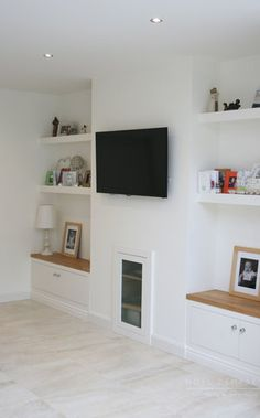 We design Bespoke Furniture for your Bedroom, Kitchen, Bathroom, and every room of your home. With precision craftsmanship & best quality. Alcove Ideas Living Room, Living Room Shelves, Living Room Storage, Living Room Tv, Home And Living, Living Room Designs, Alcove Shelving, Alcove Cupboards, Alcove Tv Unit