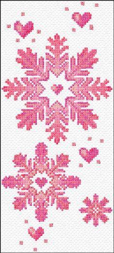 snow flakes free cross stitch pattern by ann logan