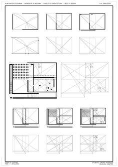 Geometric framework of Danteum plan using golden sections.