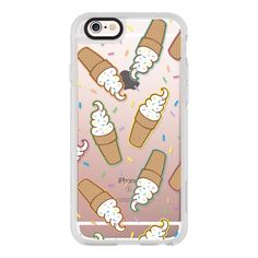 Soft Serve Ice Cream - iPhone 6s Case,iPhone 6 Case,iPhone 6s Plus... (52 CAD) ❤ liked on Polyvore featuring accessories, tech accessories, iphone case, clear iphone cases, iphone hard case, apple iphone cases, iphone cases and iphone cover case