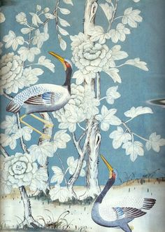 Chinoiserie. De Gournay wallpaper.