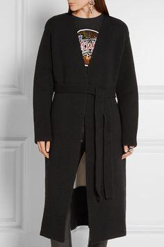 Loewe   Two-tone chunky-knit wool cardigan   NET-A-PORTER.COM