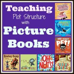 Teaching Plot Structure using PIcture Books.  This blog post breaks down the template for retelling fictional stories as well as having students write them.