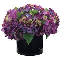 Natural Decorations Inc. Faux Hydrangea Arrangement at Joss & Main