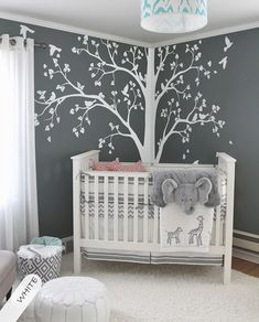 Large tree decal Huge White Tree wall decal Stickers Corner Wall Decals Wall Art Tattoo Wall Mural Decor – 086 Baby room – Home Decoration Baby Bedroom, Baby Boy Rooms, Baby Room Decor, Room Baby, Nursery Room Ideas, Babies Nursery, Unisex Baby Room, Baby Room Wall Art, Nurseries Baby