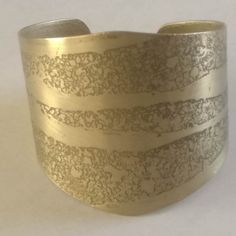 1970's Vintage Decorated Brass Bangle Dimensions -  60mm x 58mm x 50mm Weight - 42g