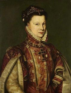 Elisabeth de Valois, eldest daughter of Henri II, King of France and wife Queen Catherine of Medici; married Felipe II, as his third wife, becoming Queen of Spain.