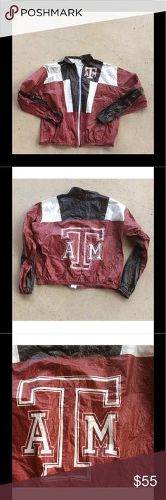 Vintage Tyvek paper Stadium Jacket XL Texas A&M Super Rare!! Vintage Tyvek paper Stadium Jacket XL Texas A&M crinkled and great rare piece of vintage A&M culture Jackets & Coats Utility Jackets
