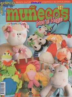 Revista Arte Manual Nº95 especial Cojines. Divertidos diseños para decorar el cuarto de los niños o adultos también…revista completa patrones incluidos