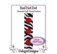 African Dream - Beaded Peyote Bracelet Cuff Pattern | DebgerDesigns - Patterns on ArtFire