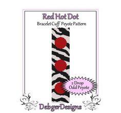 African Dream - Beaded Peyote Bracelet Cuff Pattern | DebgerDesigns - Patterns on ArtFire