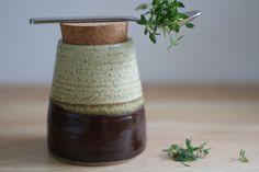 SALE Kitchen storage jar. Modern Ceramic by stonewarestudiouk