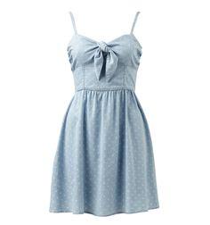 Pretty bow dress.