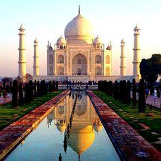Reflection pool at the Taj Mahal. Photo courtesy of sevencontinentssasha on Instagram.