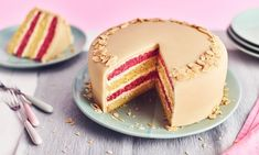Battenburg Layer Cake Recipe: A contemporary twist on the traditional Battenberg cake. Go on and with this delicious bake!- One of hundreds of delicious recipes from Dr. Cake Making Methods, Bake Off Recipes, Delicious Recipes, Yummy Food, Cooking Tips, Cooking Recipes, Afternoon Tea Cakes, Plain Cake, Butter Icing