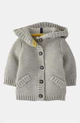 """""""Mini Boden 'Chunky' Cardigan - the gray would work for boy or girl"""", """"Baby Knitting Patterns Shop Winter Sale 2014 Baby Clothing for Boys & Girls 0 t Chunky Cardigan, Baby Cardigan, Knit Cardigan, Hooded Cardigan, Baby Boy Knitting, Knitting For Kids, Hand Knitting, Chunky Knitting Patterns, Knit Patterns"""