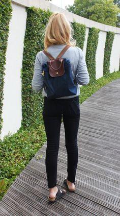One of the elegance backpacks around. Longchamp 1699 Navy.