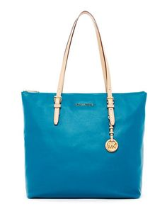 """My """"because I got a raise and I damn well deserve it"""" bag! ;) Michael Kors  Jet Set Large Tote."""