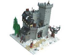 LEGO Snow Castle by slyowl on Brickshelf Lego Burg, Lego Flower, Lego Village, Lego Winter, Lego Knights, Brick Art, Lego Army, Cool Lego, Awesome Lego