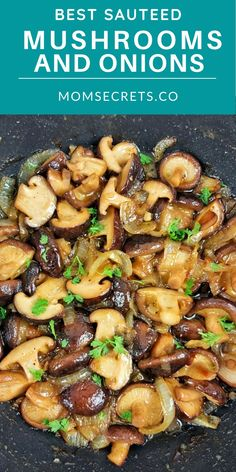 These Garlic Butter Mushrooms with onions are the PERFECT versatile keto side dish for steak, burgers, chicken or pork! They're ready in just 20 minutes!! #MUSHROOMS #KETOSIDEDISH Best Sauteed Mushrooms, How To Cook Mushrooms, Mushroom And Onions, Stuffed Mushrooms, Steak Side Dishes, Low Carb Side Dishes, Side Dish Recipes, Dinner Recipes, Onion Recipes