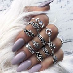 She had rings on her fingers and bells on her shoes  And I knew without askin' she was into the blues  #midirings #girlstuff #maryhadalittleglam #ringset