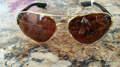 Costa del Mar Sunglasses (Men's Pre-owned Gold Frame Aviator Designer Sun Glasses)