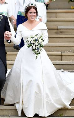 London-based design duo Christopher de Vos and Peter Pilotto have secured one of the biggest bridal commissions of the year, creating the wedding dress of Princess Eugenie of York. Movie Wedding Dresses, Famous Wedding Dresses, Royal Wedding Gowns, Wedding Movies, Princess Wedding Dresses, Royal Weddings, Wedding Stuff, Windsor, Eugenie Wedding