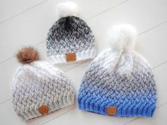 Baby Knitting Patterns Hat Knitting now with just a PDF manual beautiful hats with braided pattern for D . Baby Knitting Patterns, Crochet Patterns, Crochet Braids, Knit Crochet, Crochet Hats, Knitted Hats Kids, Kids Hats, Pull Bebe, Easy Knitting Projects