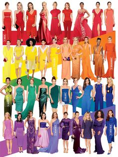 Style 100: The Best Looks and Trends of 2014 - No.1-7. Red-Carpet Rainbow from #InStyle