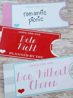 Printable Love Coupon Book