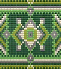 """Схема кулона """"Зеленые мелодии"""" - ткачество / гобеленовое плетение / loom beading"""