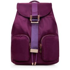 LUCLUC Purple Nylon Backpacks Bag ($34) ❤ liked on Polyvore featuring bags, backpacks, backpack, lucluc, backpacks bags, purple bag, knapsack bags, nylon backpack and nylon bag