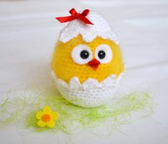 Easter chicken crochet pattern Crochet chicken Chicks in eggshell Easter decoration Crochet farm animals Easter ornament Digital download Please note: this is a pattern only and not the finished item. You will receive a PDF file with step-by-step instructions, pictures and