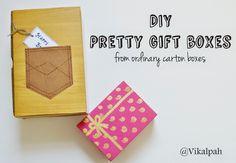 #DIY #giftboxes from ordinary carton boxes