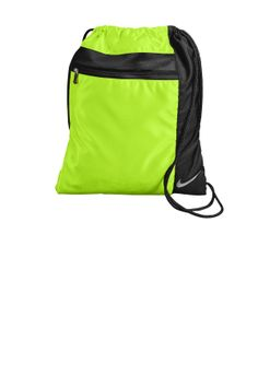 Drawstring backpack packs a lot of punch! Comes in seven different colors. Nike swoosh in white makes this bag anything but basic.