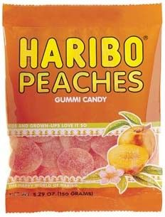 Haribo Gummi Peaches - 12 / Box