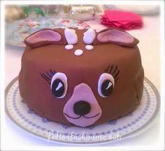 Pullantuoksuinen koti: Bambikakku - Nougat- ja vadelmatäytteillä Bambi cake