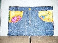 Umbrella Denim Skirt Fabric Postcard by CooperStudios on Etsy, $8.00