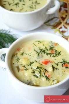 Zupa kalafiorowa- mój smak dzieciństwa! :) Jest to jedna z najlepszych i najsmaczniejszych zup, które dość często przygotowuję. Clean Recipes, Soup Recipes, Vegetarian Recipes, Cooking Recipes, Healthy Recipes, B Food, Good Food, Light Soups, Pasta Soup