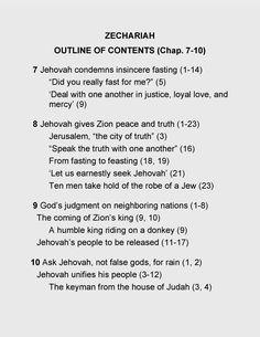 Bible Book of Zechariah, Chap. 7 - 10.