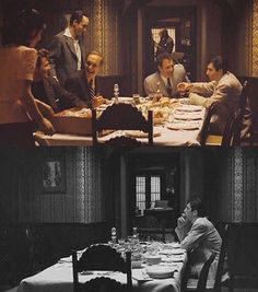 The Godfather 1972 another sad part from all three movies. The Godfather 1972, Godfather Quotes, The Godfather Part Ii, Godfather Movie, Corleone Family, Don Corleone, Al Pacino, The Best Films, Great Movies
