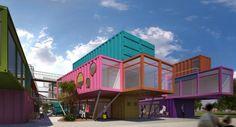 Imagem relacionada Container Architecture, Nest Building, Building A House, Container Shop, Container Houses, Casas Containers, Creative Labs, Shipping Container Homes, Shipping Containers