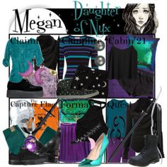 Requested by swimstar327: Megan Daughter of Nyx ~ Wardrobe