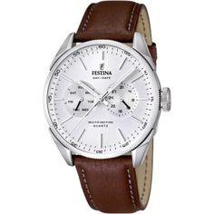 Vous avez dû le remarquer, le vintage est tendance depuis quelques saisons. C'est pour cela que cette montre Festina pour homme, avec son joli bracelet en cuir marron et son style classique et élégant ne pourra que plaire !