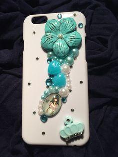 Bonita Funda de móvil para iphone 6, decorada en 3D.