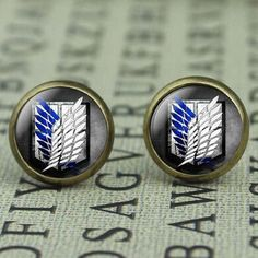 Attack On Titan Bronze Plated Womens Anime Earrings