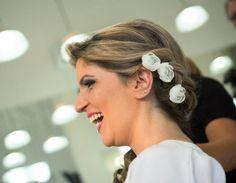 Mini Flor Branca para penteados Noiva