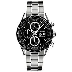 @Overstock - Finely crafted wristwatch is a handsome addition to your collection  Sporty men's timepiece has a stainless steel case and bracelet  Luxurious chronograph watch features a large folding clasp with safety push buttonhttp://www.overstock.com/Jewelry-Watches/Tag-Heuer-Mens-Carrera-Automatic-Watch/4388260/product.html?CID=214117 $3,388.99