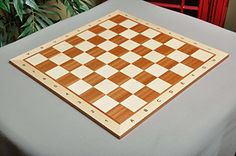 Maple  Mahogany Wooden Chess Board  25 With Notation by The House of Staunton * Check out the image by visiting the link.