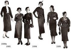 むかしの装い : 1940年代の装い・海外01 1930s Fashion, Retro Fashion, Vintage Fashion, Vintage Vogue, Vintage Glamour, Hitchcock Film, Last Dance, Vintage Couture, Fashion History